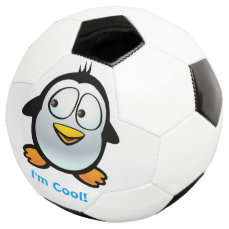 Cool Penguin Soccer Ball
