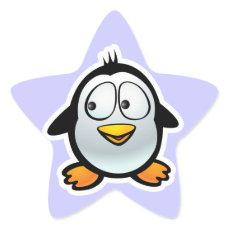 Cool Penguin Star Sticker