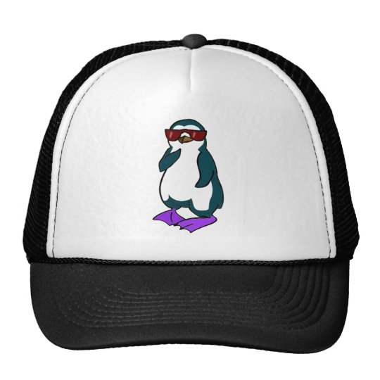 Cool Penguin Trucker Hat