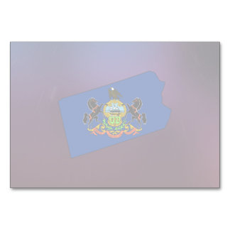 Cool Pennsylvania Flag Map Table Cards