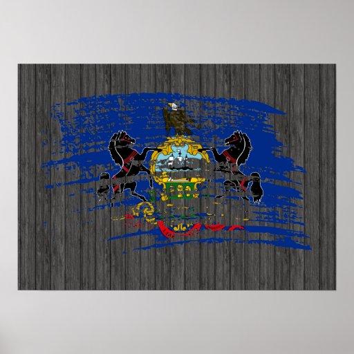 Cool Pennsylvanian flag design Print