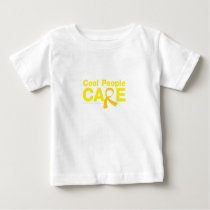 Cool People Care Childhood Cancer Awareness Baby T-Shirt