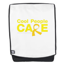 Cool People Care Childhood Cancer Awareness Backpack