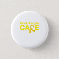 Cool People Care Childhood Cancer Awareness Button