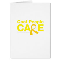 Cool People Care Childhood Cancer Awareness Card