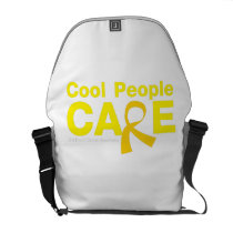 Cool People Care Childhood Cancer Awareness Courier Bag