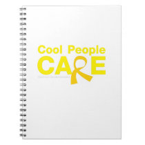 Cool People Care Childhood Cancer Awareness Notebook