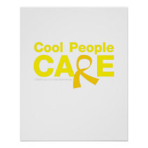 Cool People Care Childhood Cancer Awareness Poster