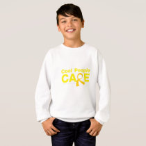 Cool People Care Childhood Cancer Awareness Sweatshirt