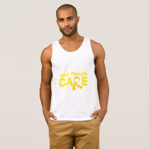 Cool People Care Childhood Cancer Awareness Tank Top