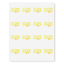 Cool People Care Childhood Cancer Awareness Temporary Tattoos