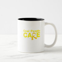 Cool People Care Childhood Cancer Awareness Two-Tone Coffee Mug