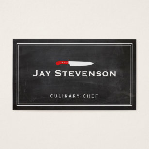 Culinary business cards templates zazzle cool personal chef knife black catering logo business card colourmoves