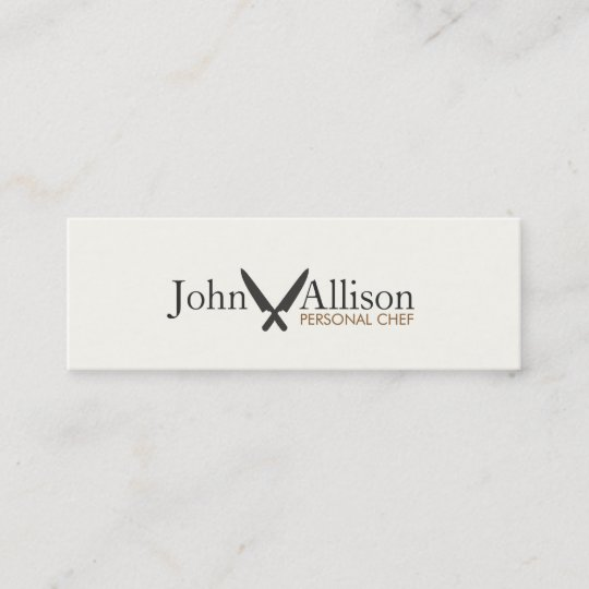 Cool personal chef knife simple catering mini business card zazzle cool personal chef knife simple catering mini business card reheart Image collections