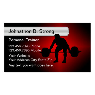 Cool Personal Trainer Business Cards