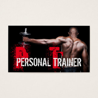 Cool Personal Trainer Gym Fitness Business Card