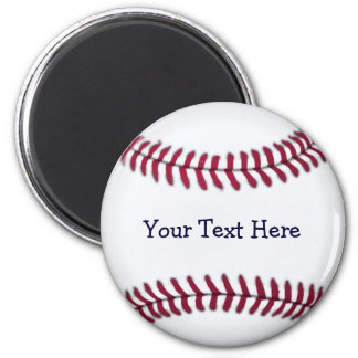 Cool Personalized Baseball 2 Inch Round Magnet