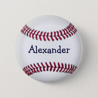 Cool Personalized Baseball Pinback Button