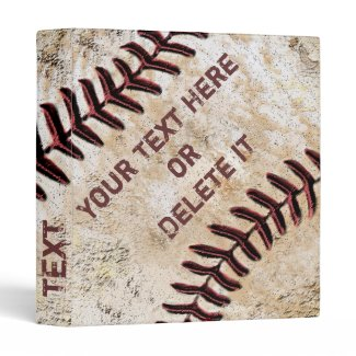 Cool PERSONALIZED Baseball Three Ring Binder