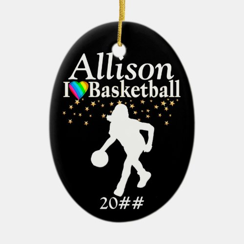 COOL PERSONALIZED BASKETBALL CHRISTMAS ORNAMENT