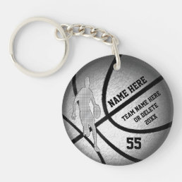 Cool Personalized Basketball Team Gifts for Boys Keychain