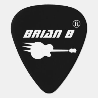 cool personalized black guitar pick for rockers