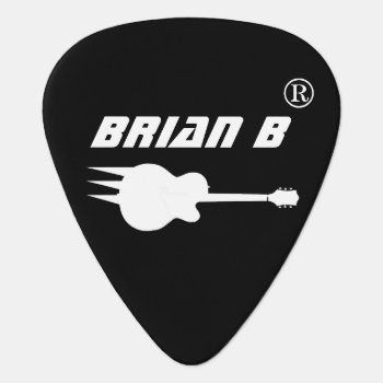 Cool Personalized Black Guitar Pick For Rockers by mixedworld at Zazzle