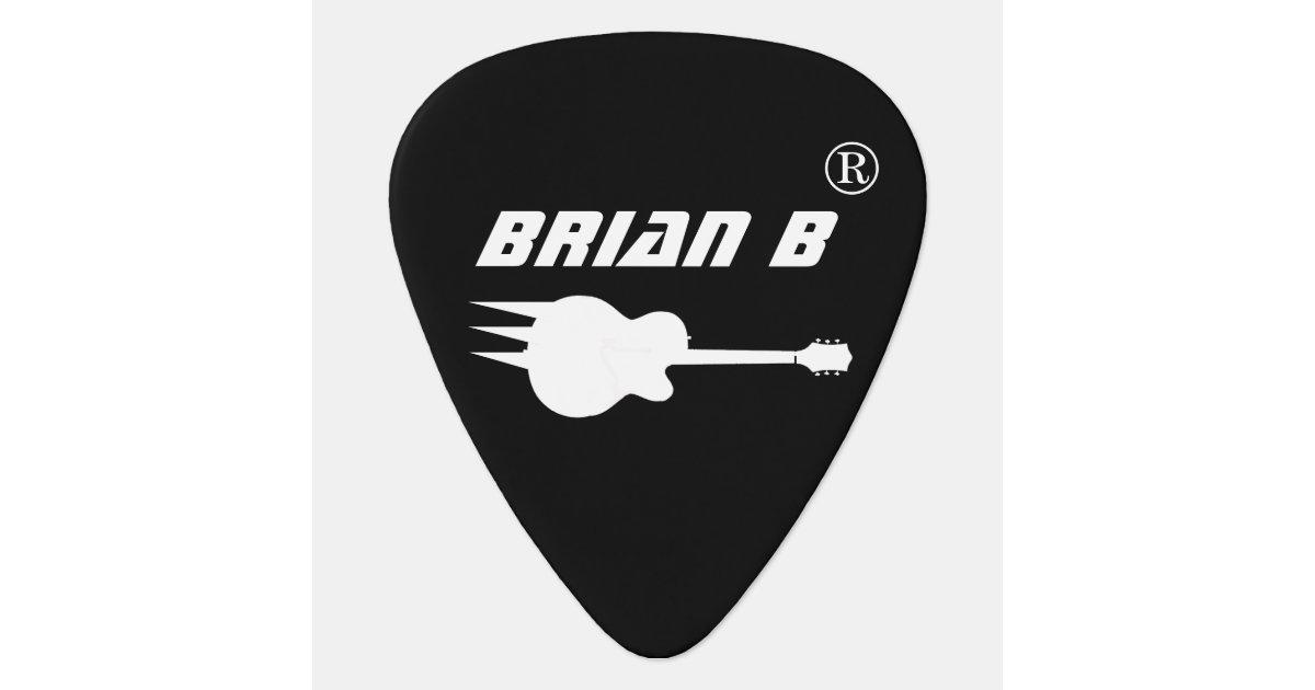 cool personalized black guitar pick for rockers. Black Bedroom Furniture Sets. Home Design Ideas
