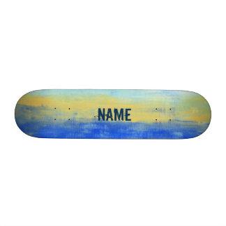 "Cool Personalized Blue Urban Art 7 3/8"" Skateboard"