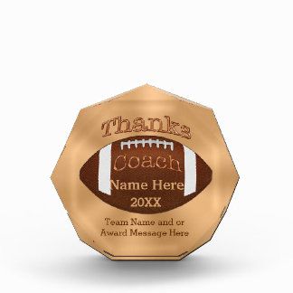Cool Personalized Football Coach Gifts Award