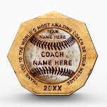 """Cool Personalized Gift Ideas for Baseball Coaches<br><div class=""""desc"""">Cool Vintage look Personalized Gift Ideas for Baseball Coaches with 4 Text Boxes to type in your thank you and appreciation message to your baseball coach, team name, coach name and year or Your Text or Delete. If you are looking for truly unique baseball gifts for coaches (and players), CALL...</div>"""