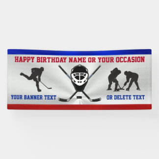 Cool PERSONALIZED Hockey Birthday Banner