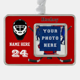 Cool Personalized Hockey Ornaments PHOTO, 2 TEXT