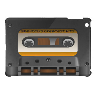 Cool Personalized Retro Audio Cassette Mixed Tape iPad Mini Cover