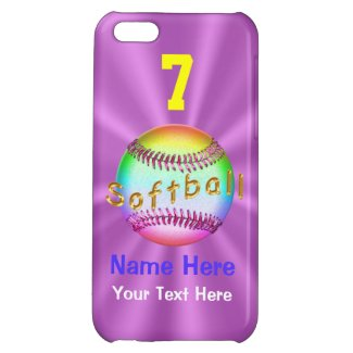Cool Personalized Softball iPhone 5C Cases for Her