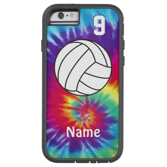 sale retailer 92af2 96195 Cool Personalized Tie Dye Volleyball Phone Cases