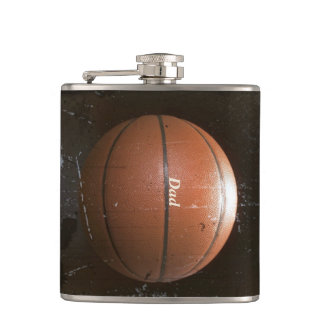 Cool Personalized Vintage Grunge Basketball Flask