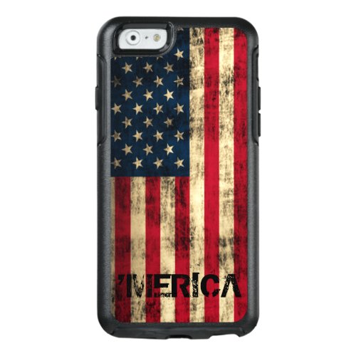 Cool Personalized Vintage Grunge 'Merica Flag Phone Case