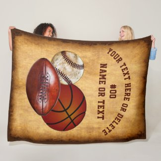 Cool Personalized Vintage look Sports Blanket