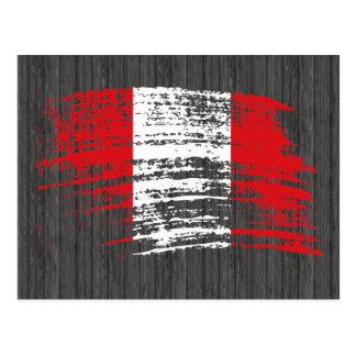 Cool Peruvian flag design Postcard