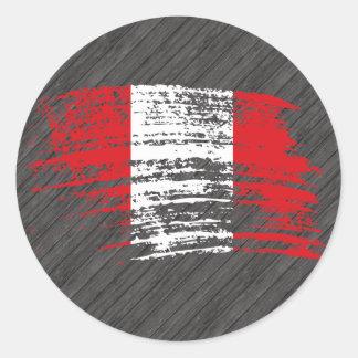 Cool Peruvian flag design Round Stickers