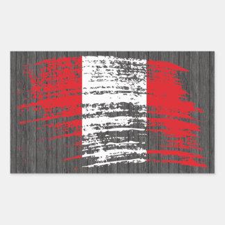 Cool Peruvian flag design Rectangular Stickers