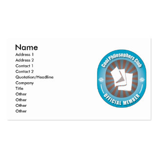 Cool Philosophers Club Business Card Template