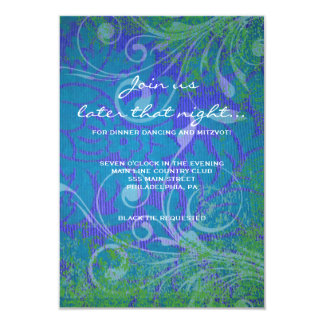 """COOL PHOTO COLLAGE Bat Mitzvah Party Card 3.5"""" X 5"""" Invitation Card"""