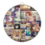Cool Photo Filter Hipster Collage Dart Board