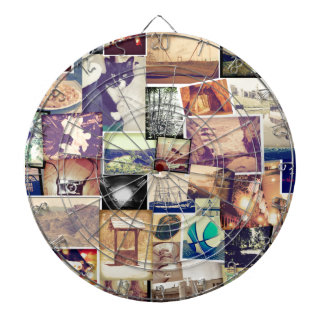 Cool Photo Filter Hipster Collage Dartboard