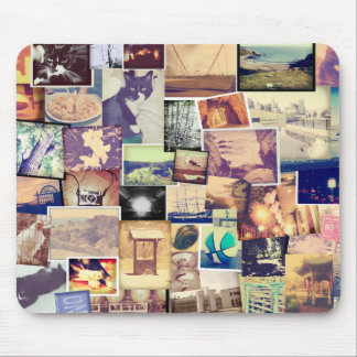 Cool Photo Filter Hipster Collage Mouse Pad