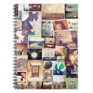 Cool Photo Filter Hipster Collage Notebook