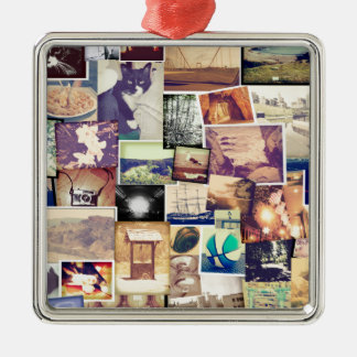 Cool Photo Filter Hipster Collage Christmas Ornaments