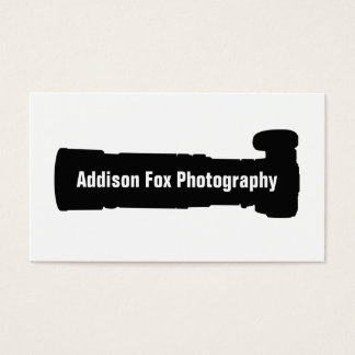 Cool Photographer Telaphoto Camera Photography Business Card